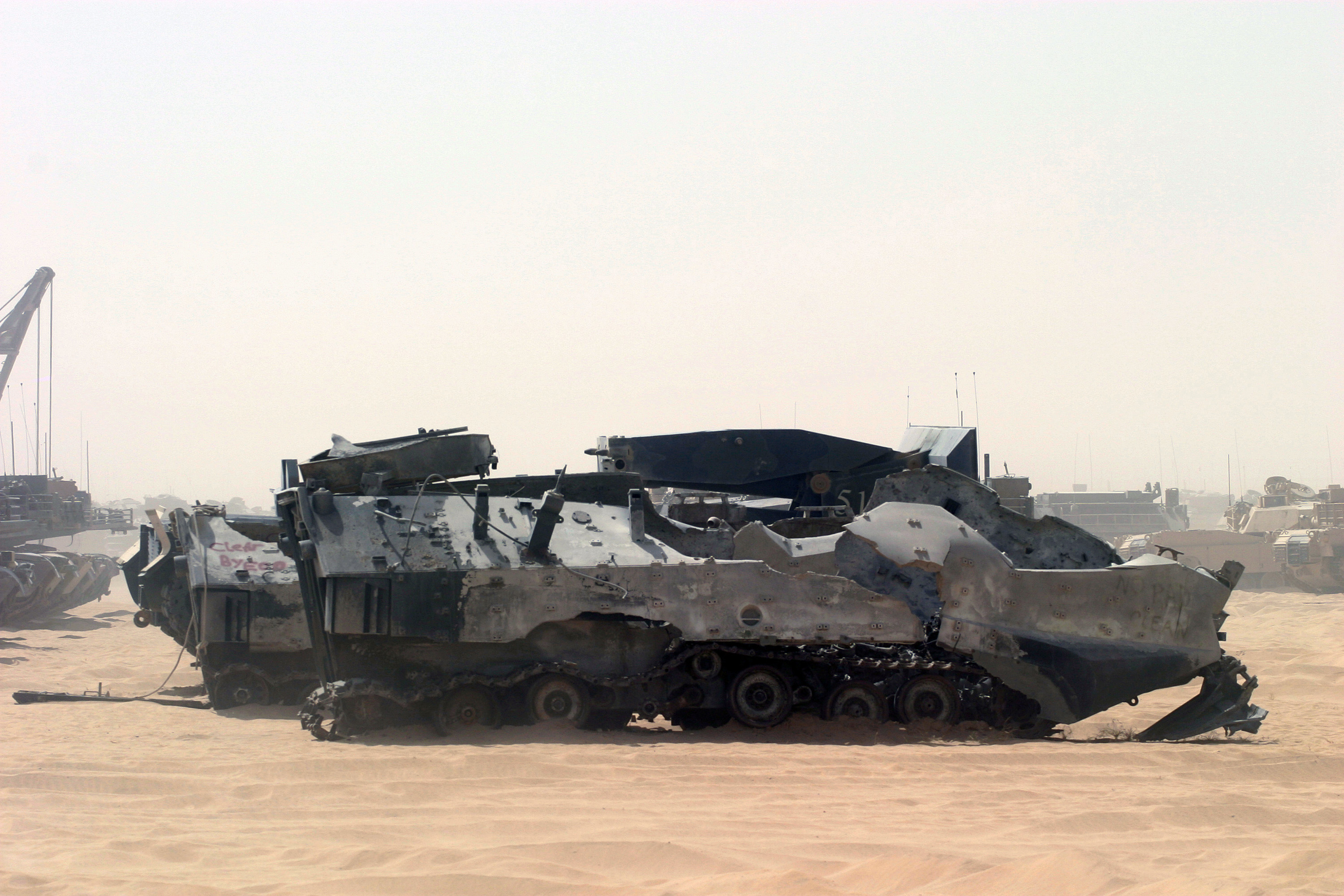 File:Destroyed US military vehicles in Iraq.JPEG - Wikimedia Commons