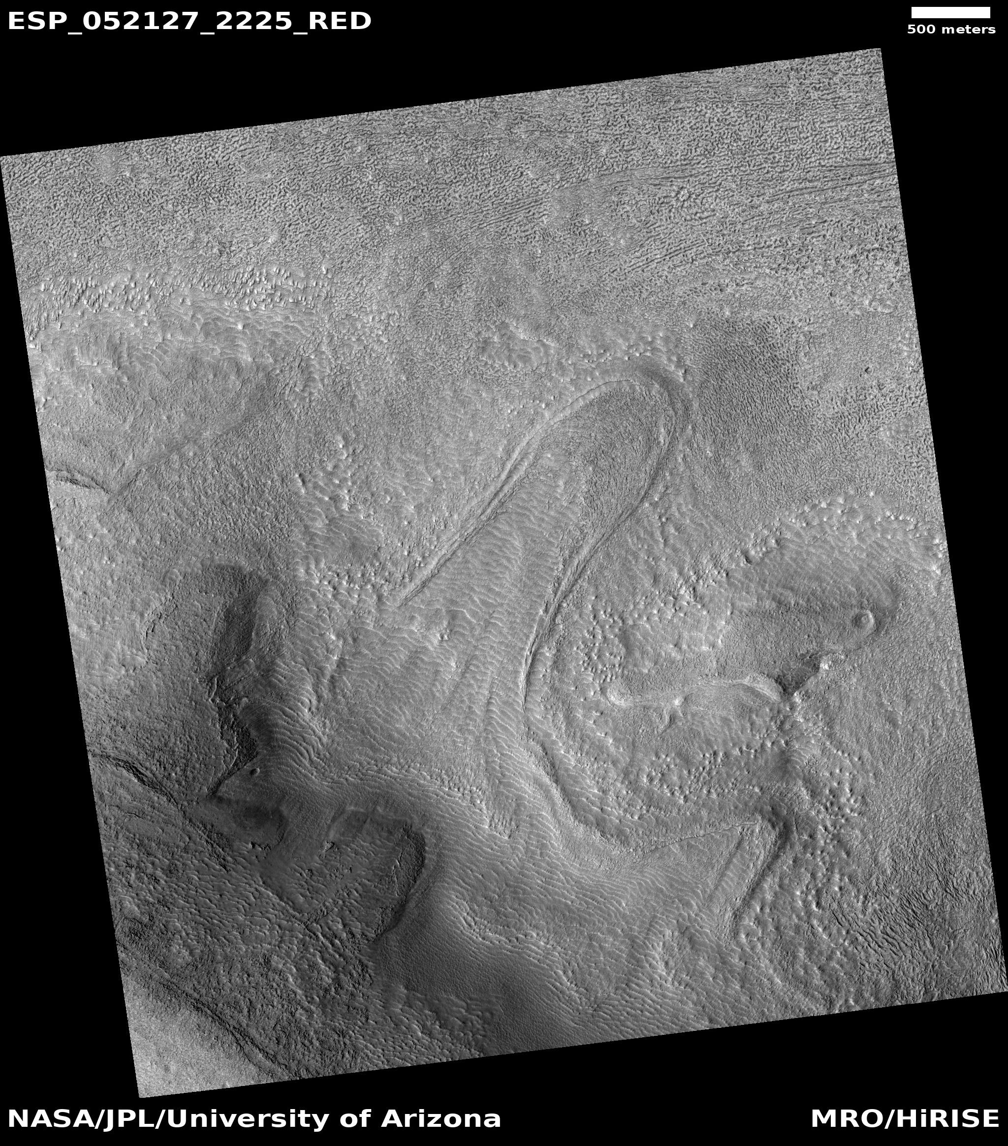 Flow, as seen by HiRISE under HiWish program