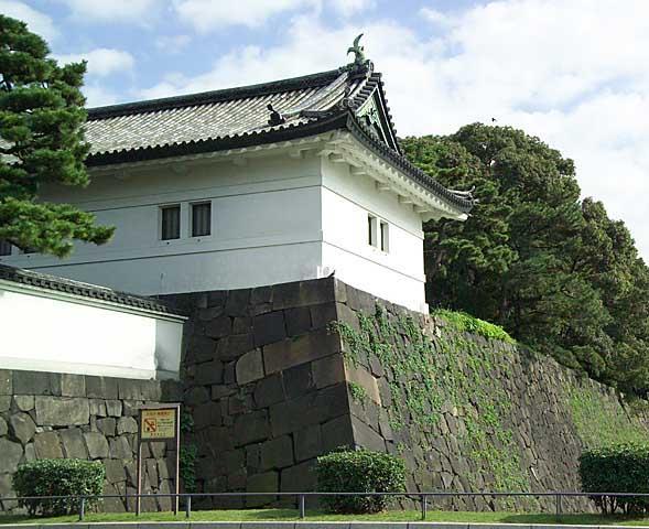 vue d'un des châteaux du palais impérial kokyo