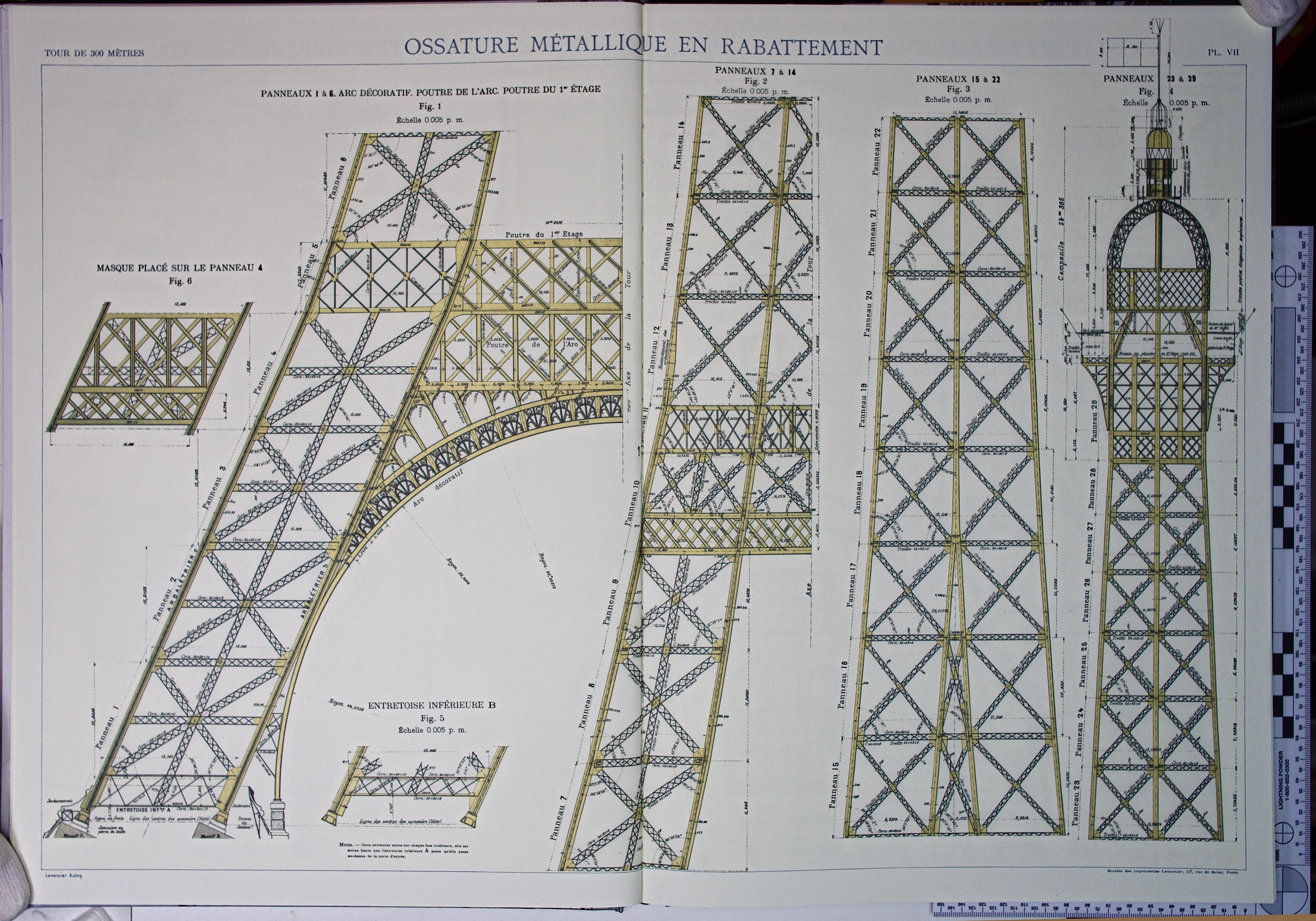 File Eiffel Tower Plans 07 Jpg Wikimedia Commons