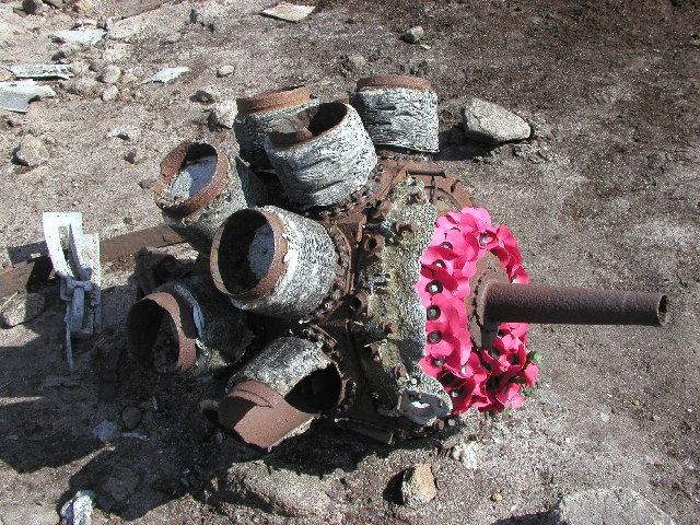 Engine from the crashed Superfortress - geograph.org.uk - 10574