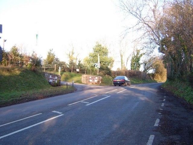 File:Entrance to Marldon Christmas Tree Farm - geograph.org.uk ...