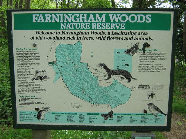 Farningham Woods Information Sign - geograph.org.uk - 1302762