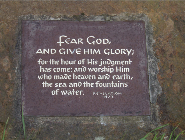 Fear God... - geograph.org.uk - 247682