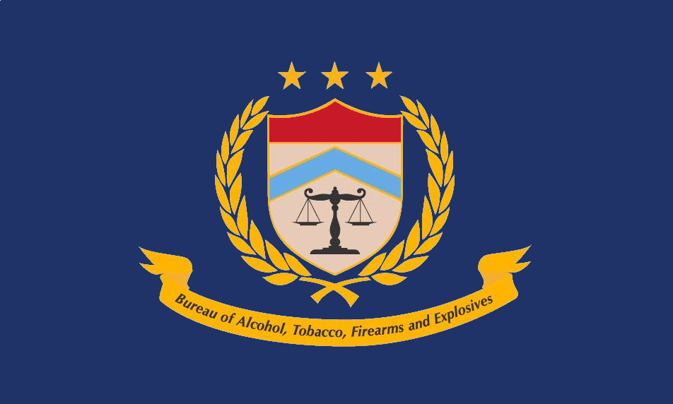 File Flag Of The Bureau Of Alcohol Tobacco Firearms And Explosives