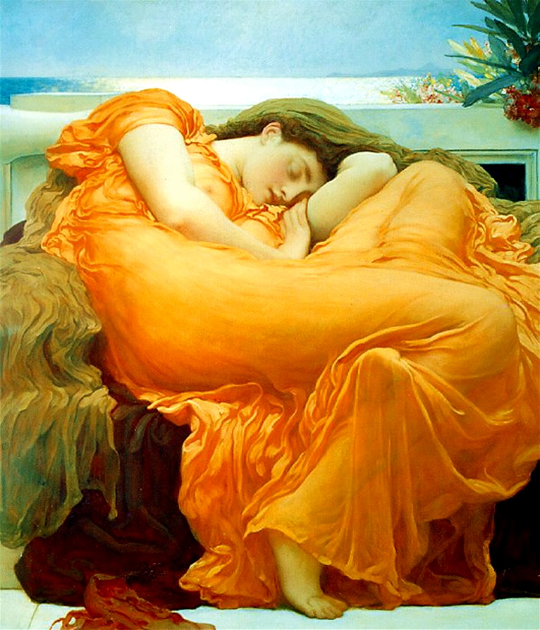Flaming June, by Frederic Leighton [Public domain], via Wikimedia Commons