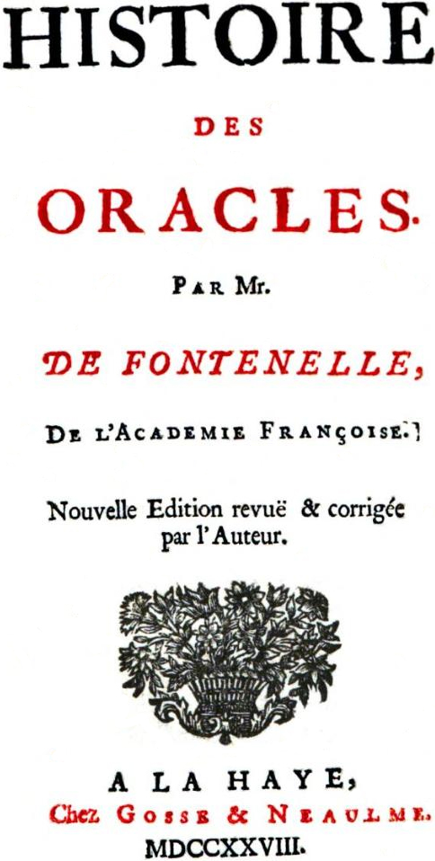 Histoire des oracles wikip dia for Histoire des jardins wikipedia