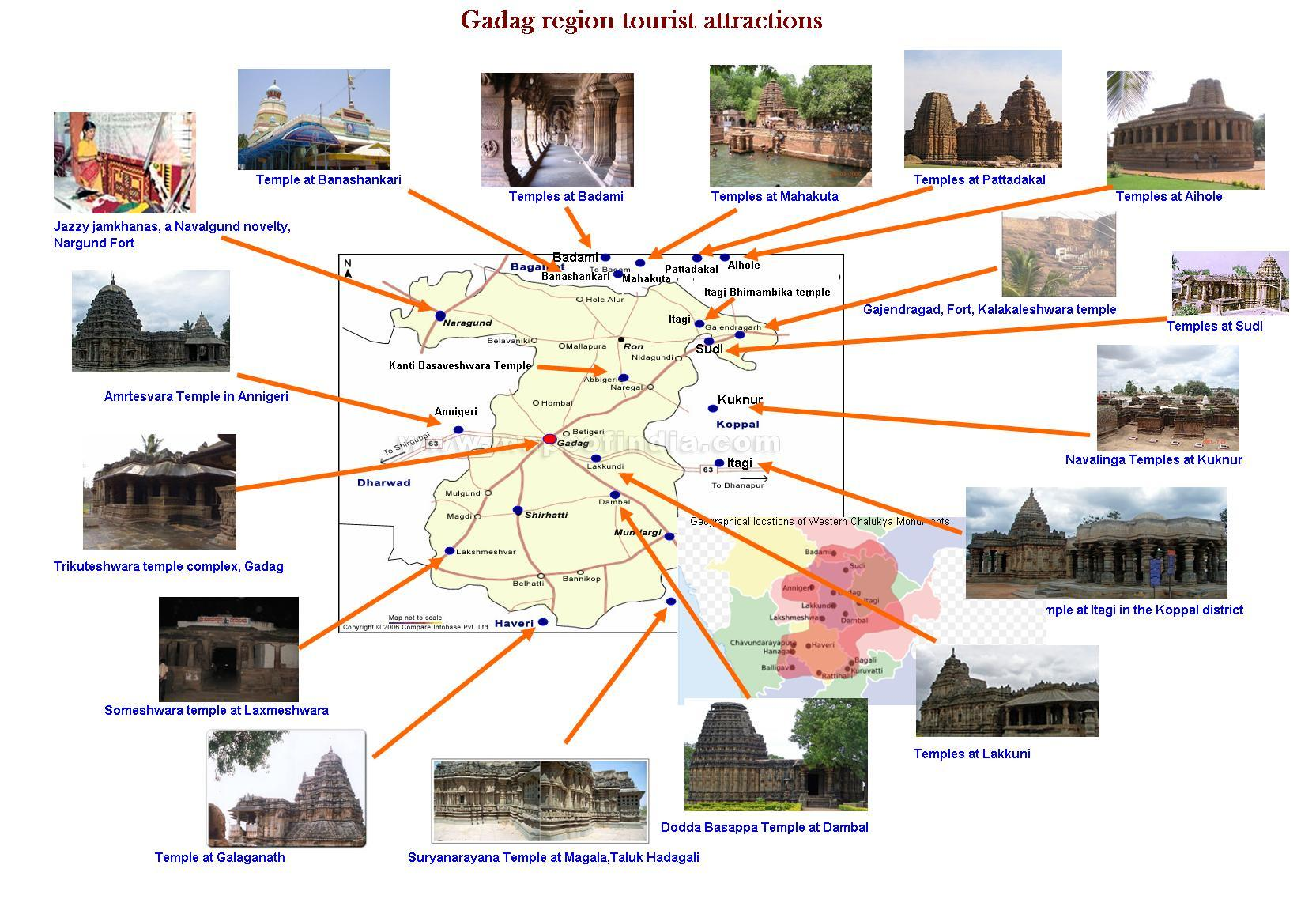 Description Gadag region tourist attractions - map.JPG