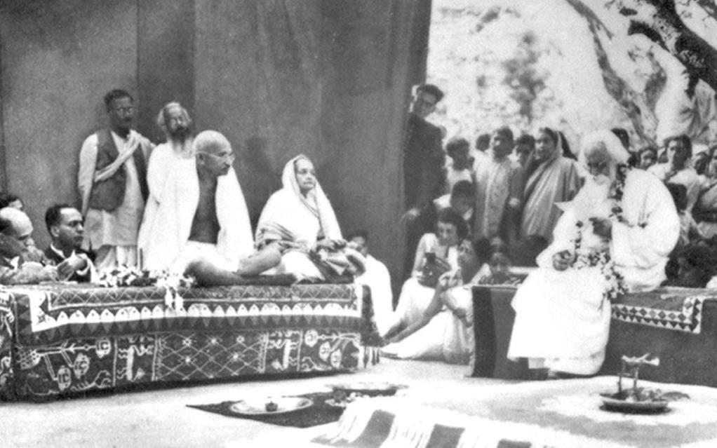 File gandhi shantiniketan for Shantiniketan tagore