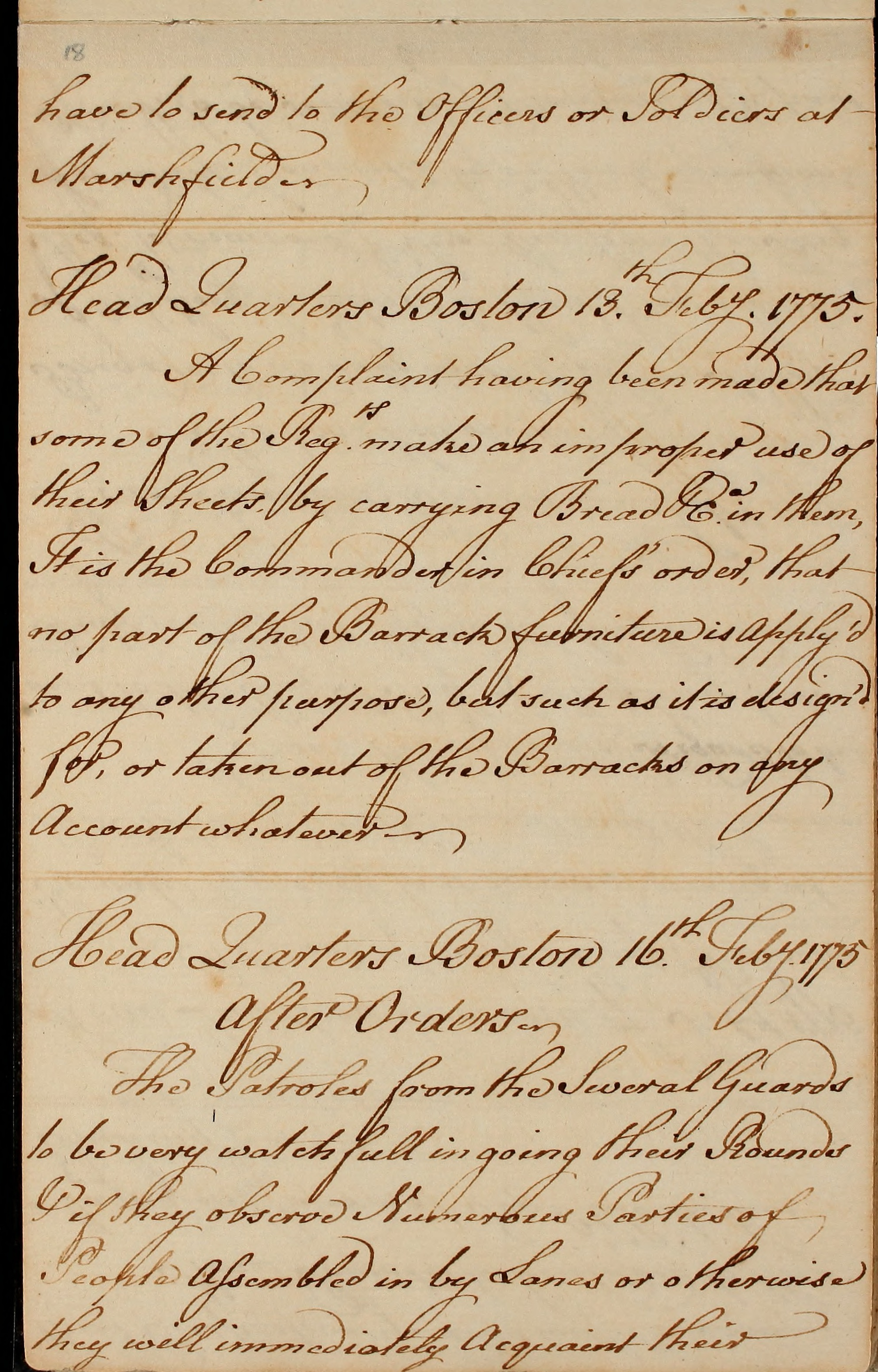 File:General orders for British regiments encamped at Boston