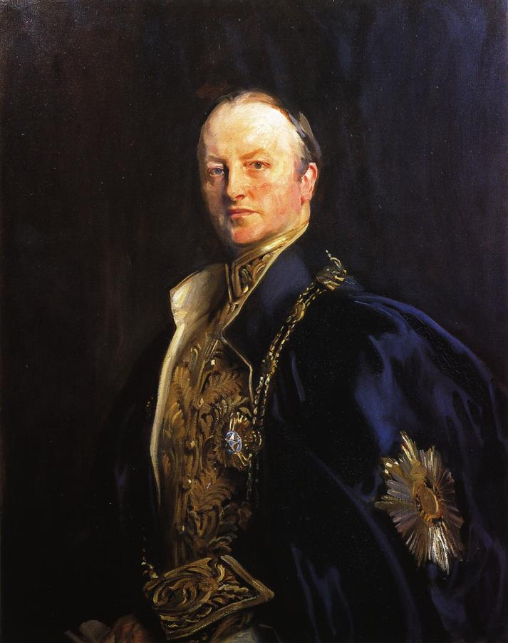 Depiction of George Curzon