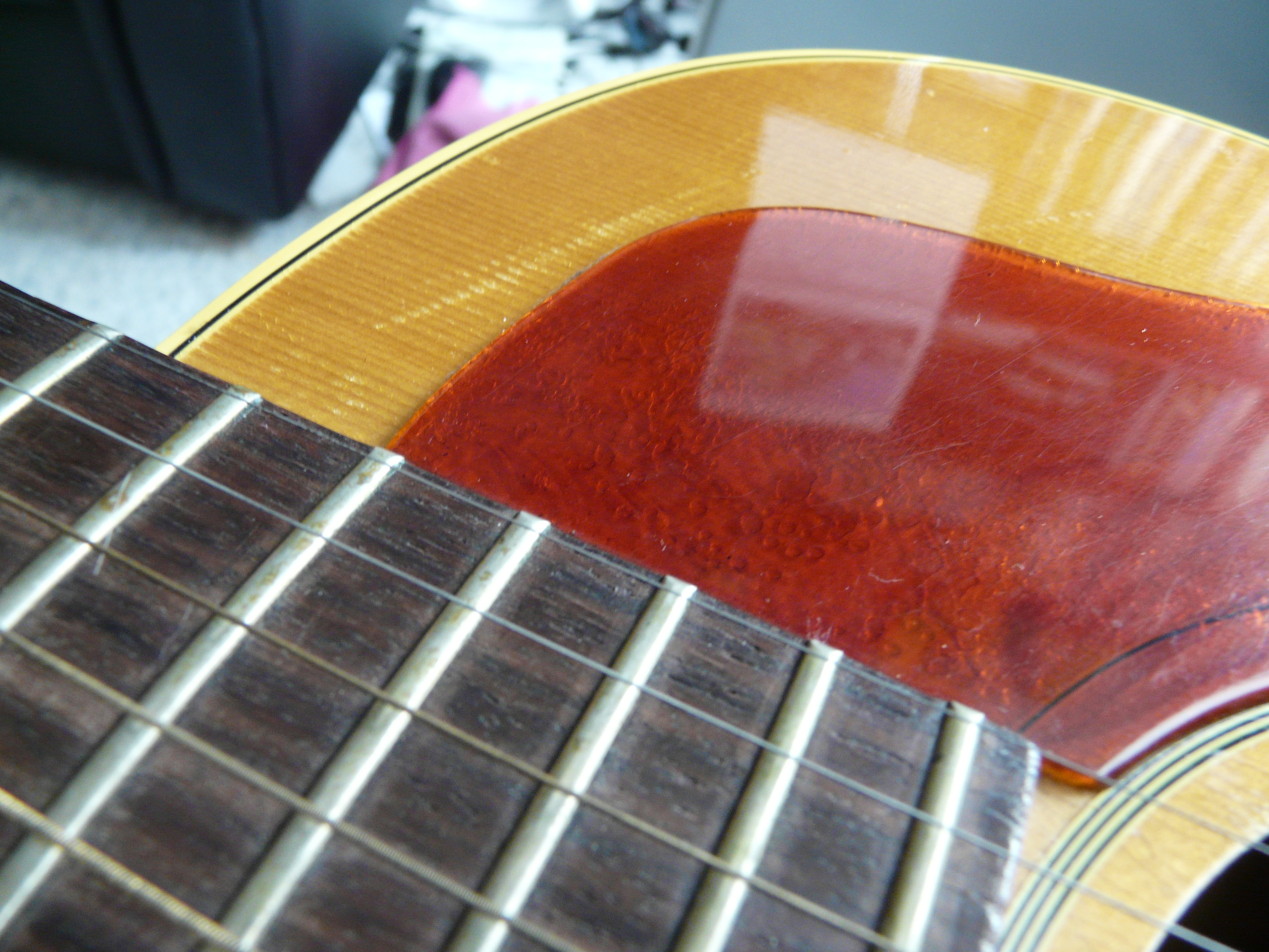 file gibson j 50 sn pickguard scratches photo by henry