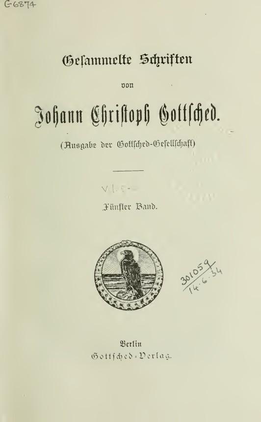 ملفgottsched Johann Christoph Gedichte Beic 4186339