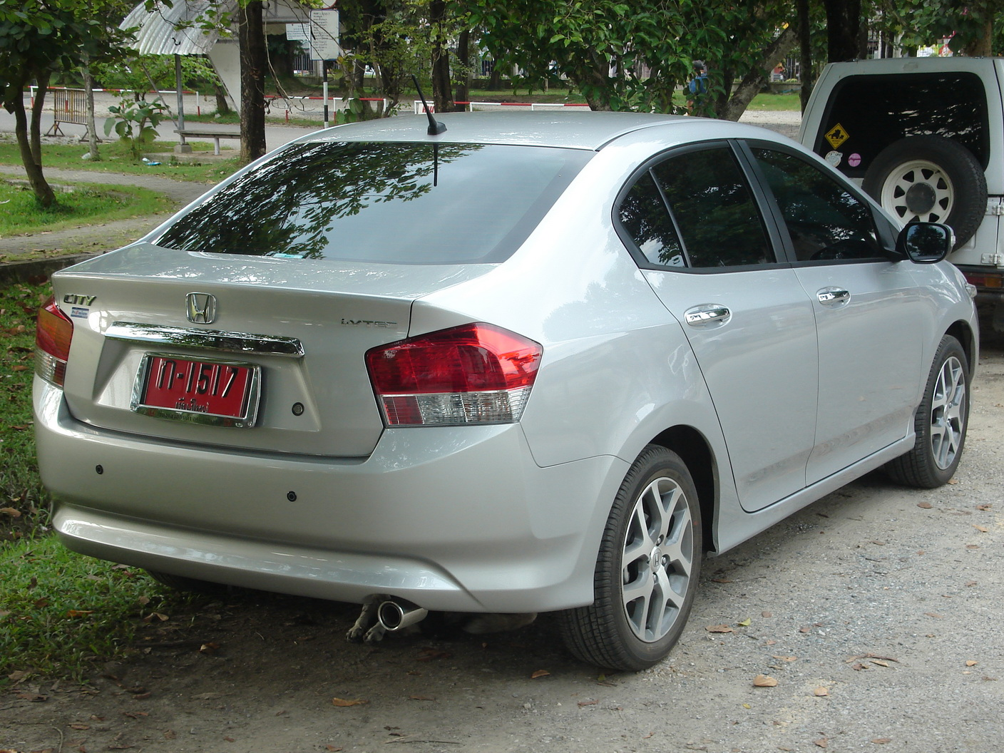 Honda City rear view.