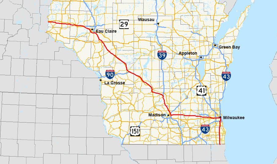 Interstate 94 In Wisconsin  Wikiwand