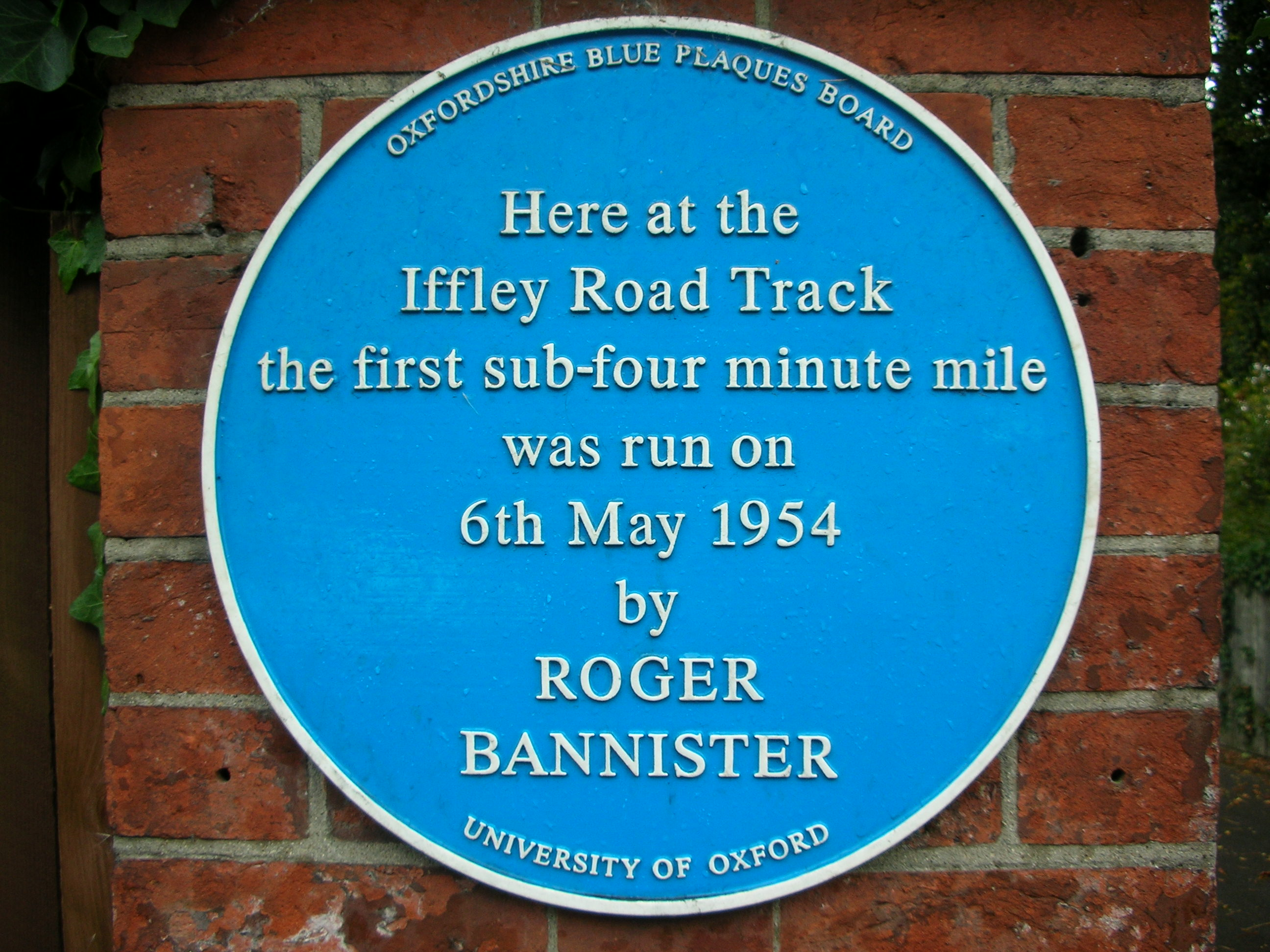 Roger Bannister Plaque | Dr. Achyuthan Eswar Naturopathy and Yoga