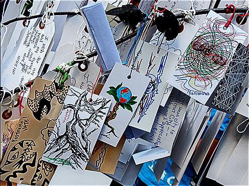 File:Immagine & Poesia on Yoko Ono's Wish Tree, MoMa 2.jpg