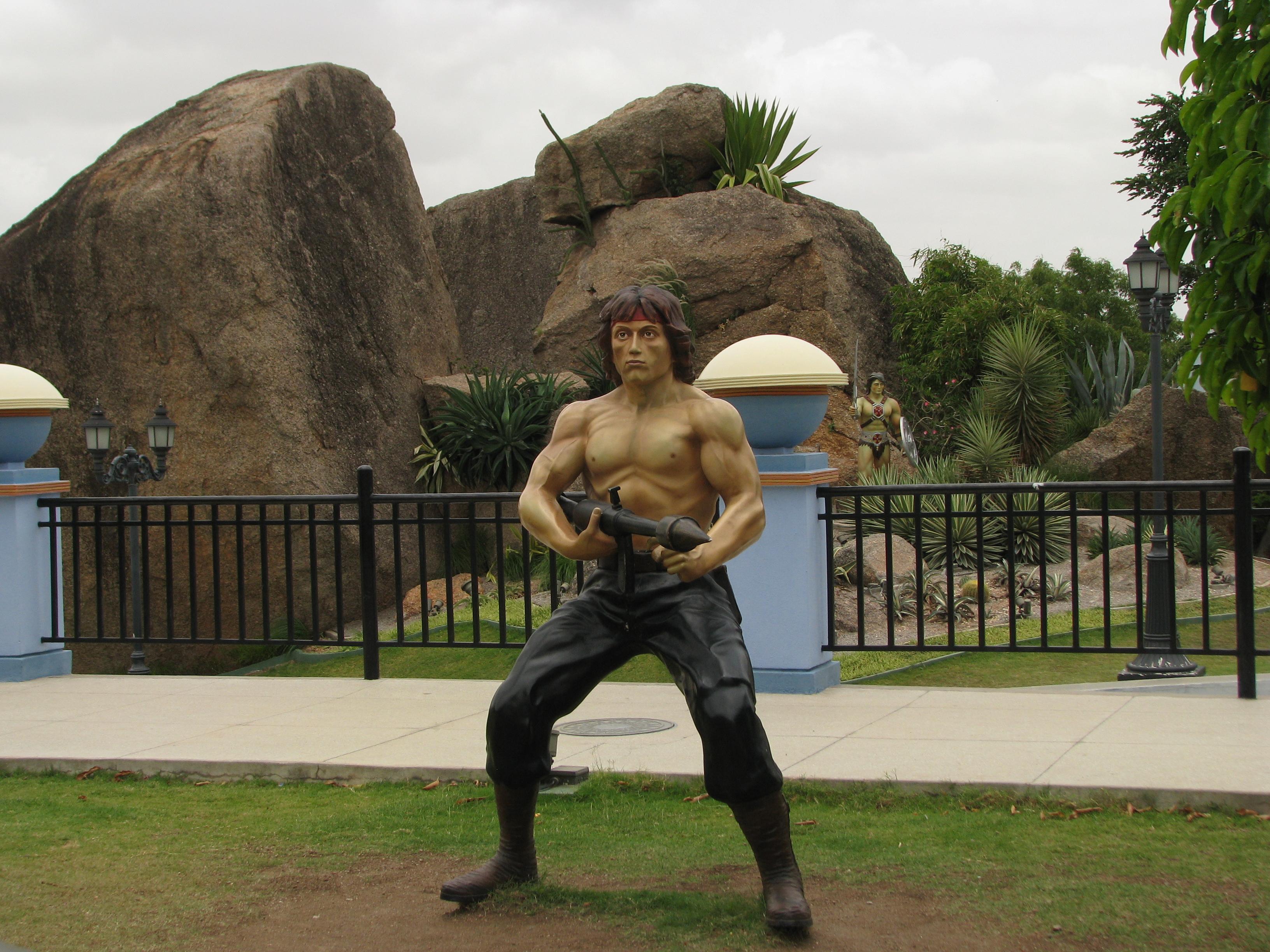 Statues in Ramoji FIlm City