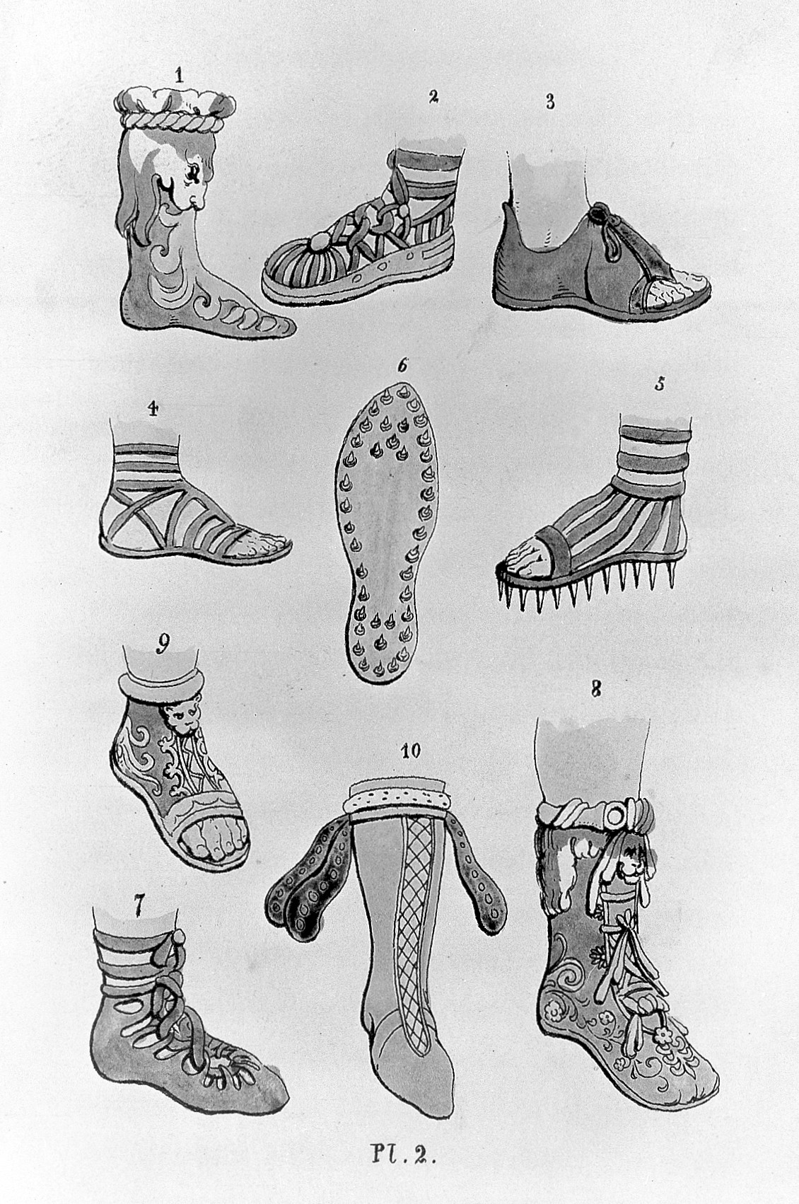 File:J.S. Hall, Greek and Roman shoes, in The book of the ...