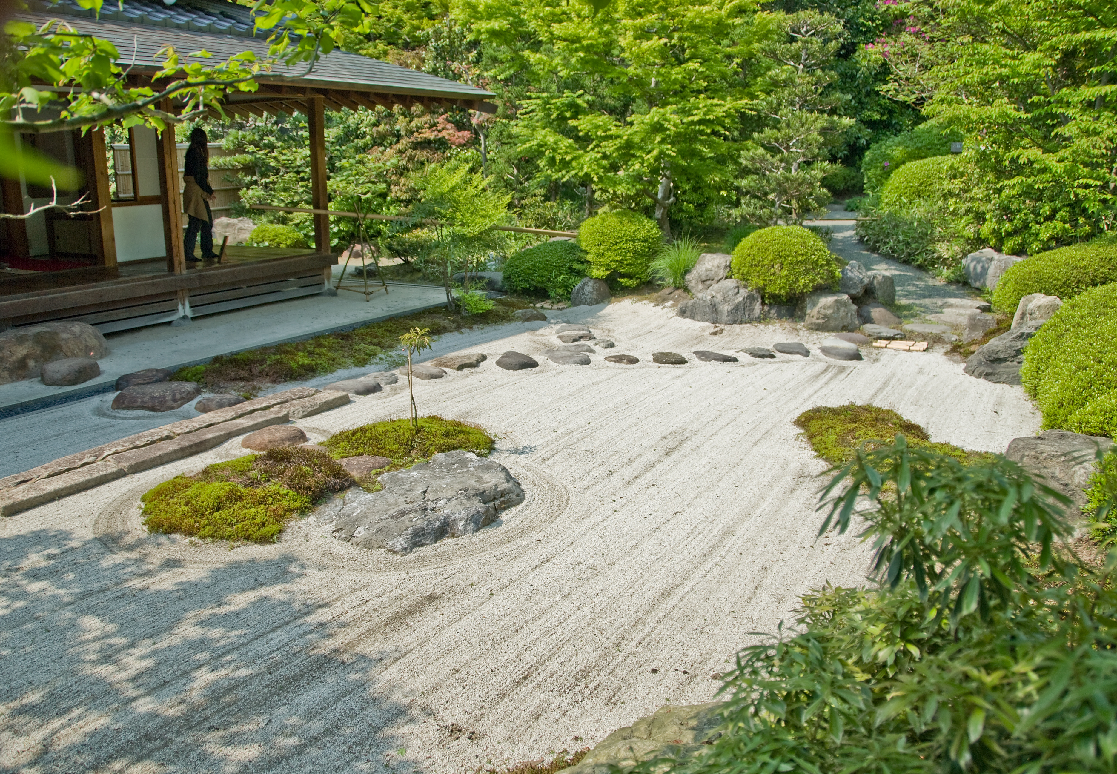 File jomyo ji kamakura sand wikimedia commons for Jardin japonais zen