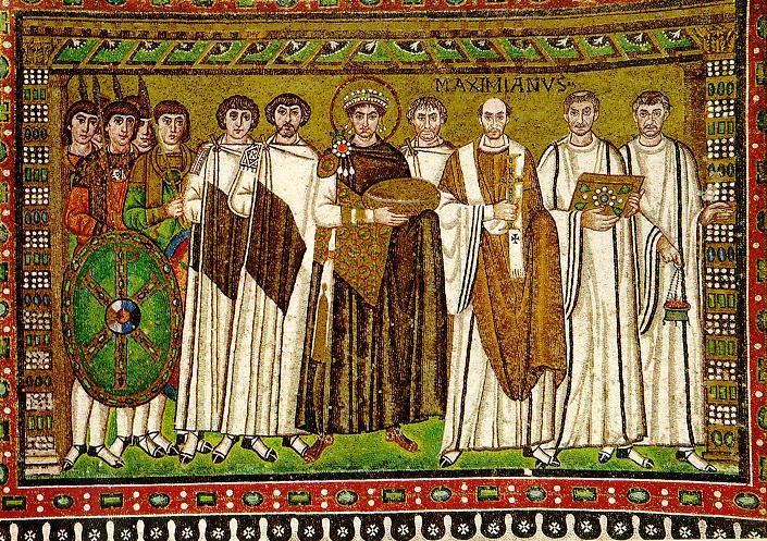 Fichier:Justinian mosaik ravenna.jpg