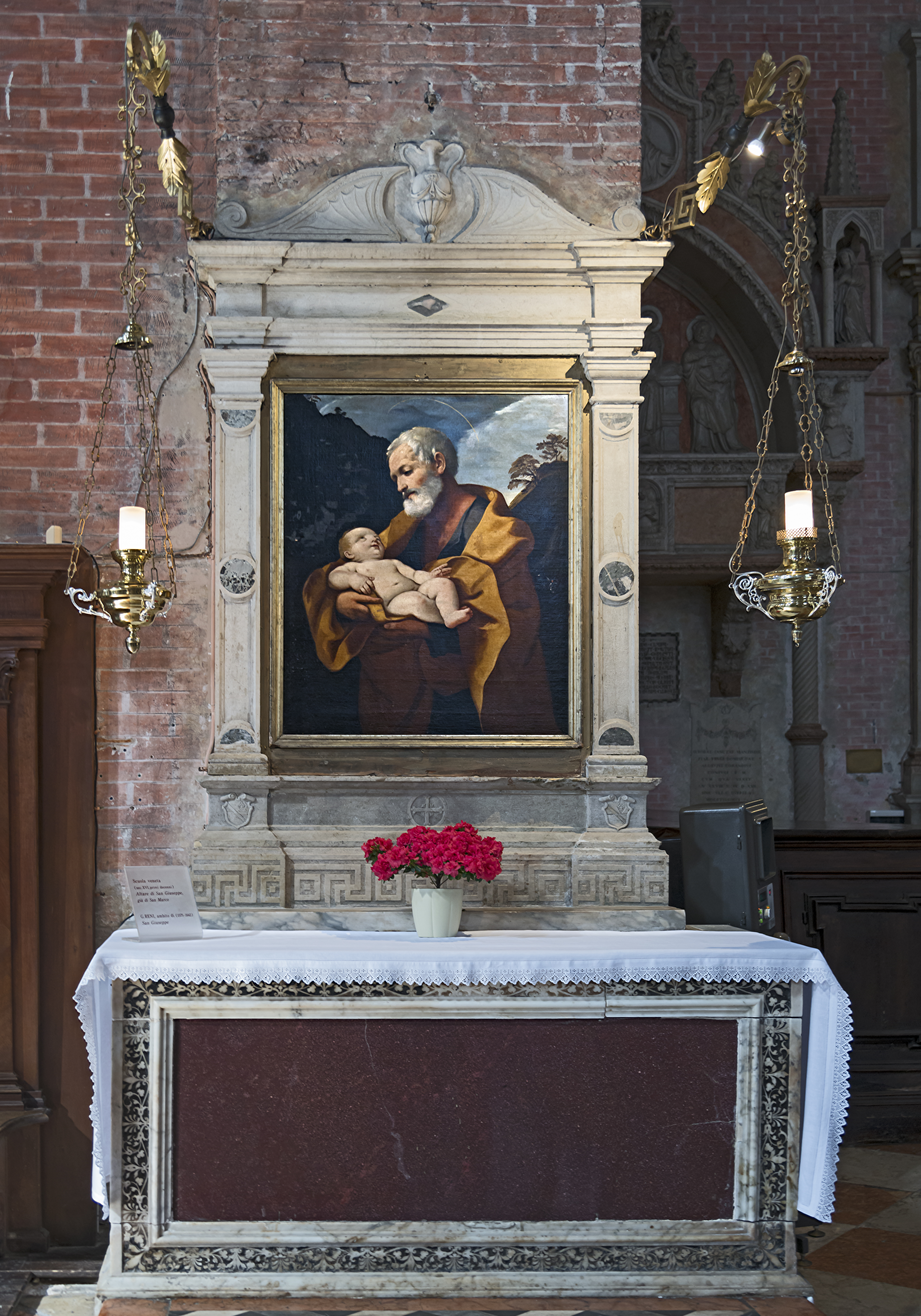 Scuola di Guido Reni altare di San Giuseppe