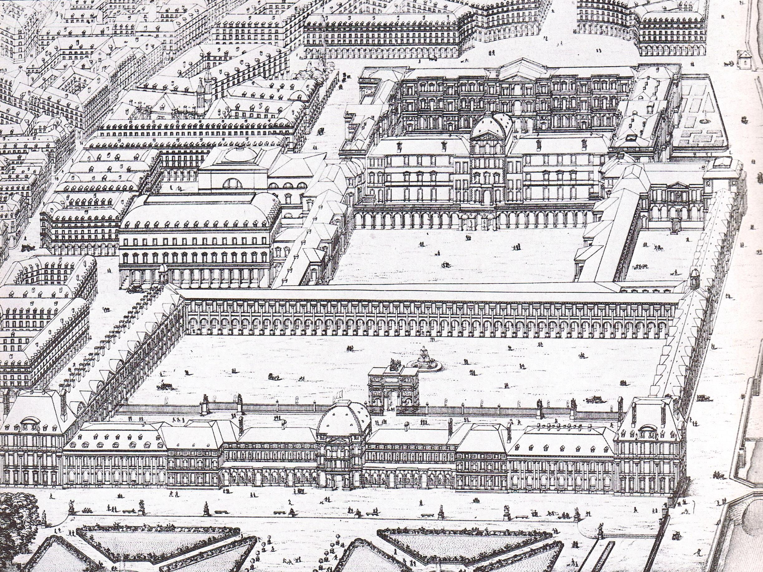 File louvre et tuileries percier et fontaine wikimedia commons - Date construction du louvre ...