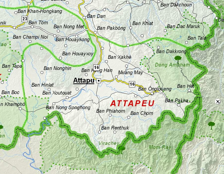 Attapeu Laos  city pictures gallery : Map of Attapeu Province, Laos Wikimedia Commons