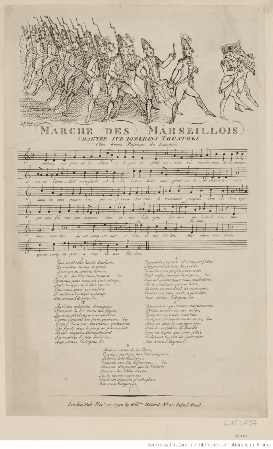 La Marche des Marseillois, 1792