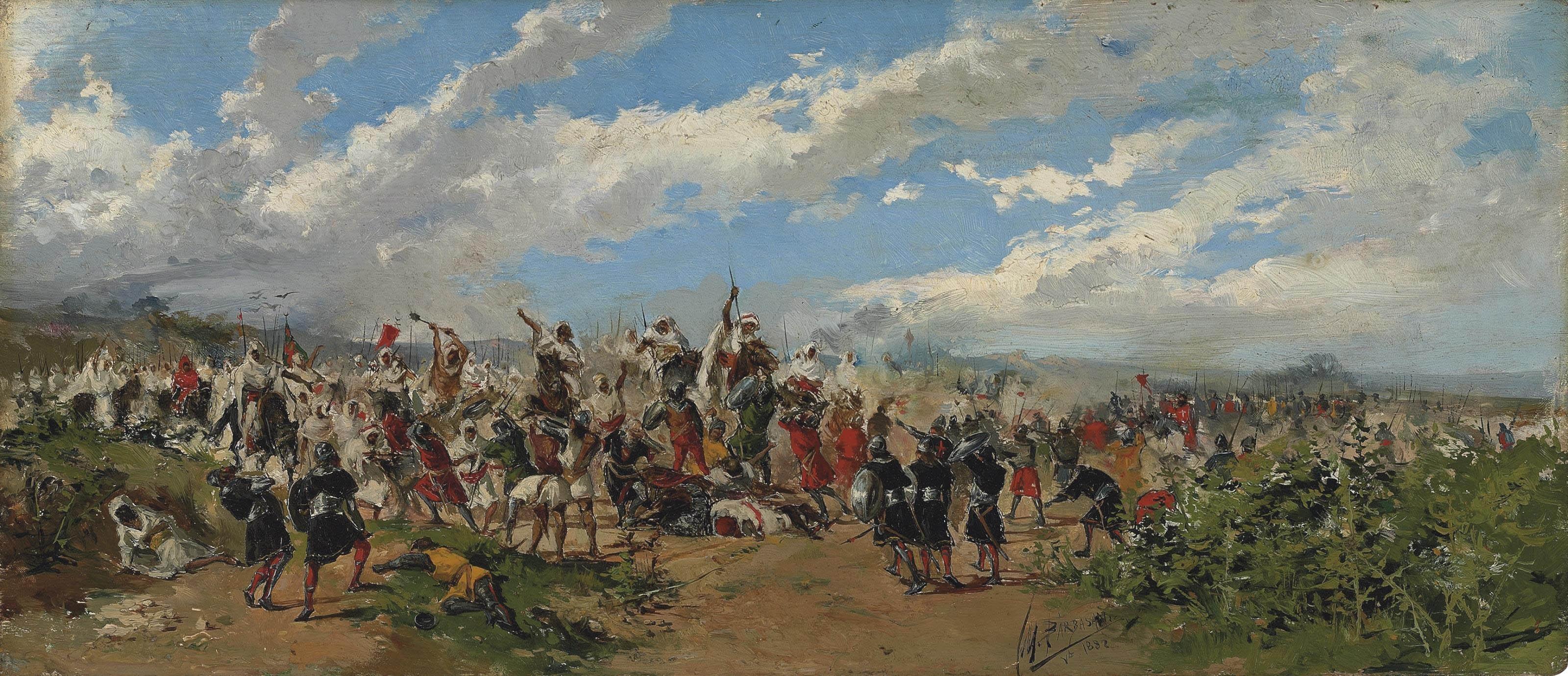 Mariano Barbasán: Batalla de Guadalete.