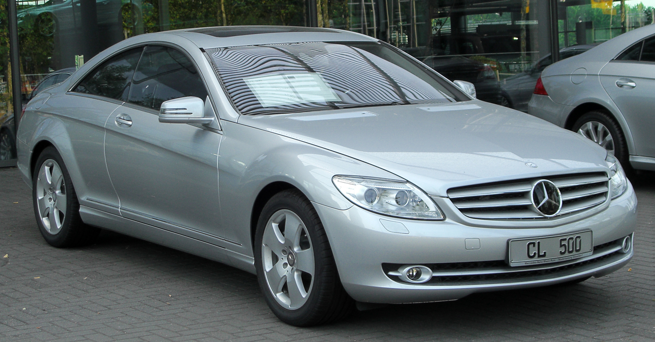 File mercedes cl 500 c216 front wikimedia for Mercedes benz c 500
