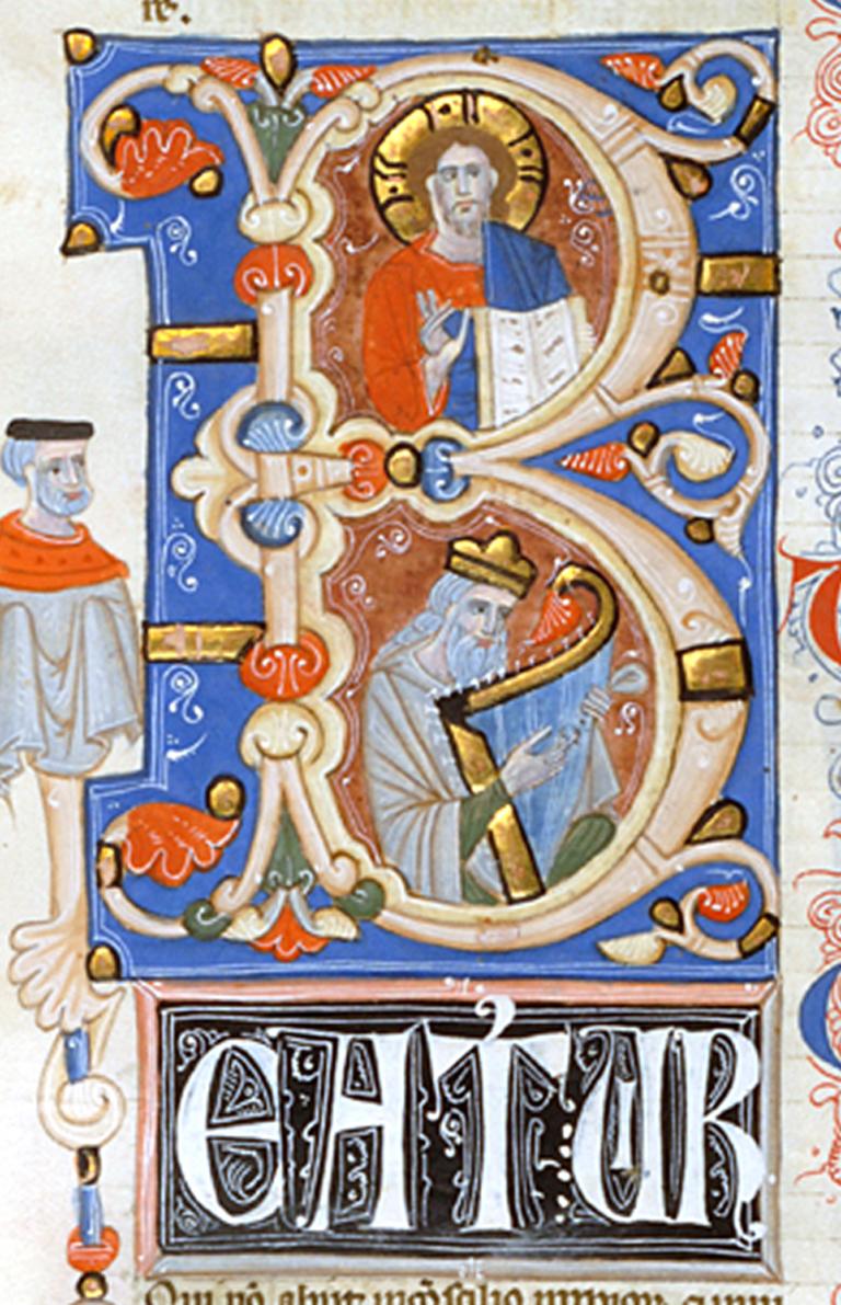 Miniatore di S Alessio in Bigiano - Leaf from Bentivoglio Bible - Walters W151250V - Reverse Detail.jpg