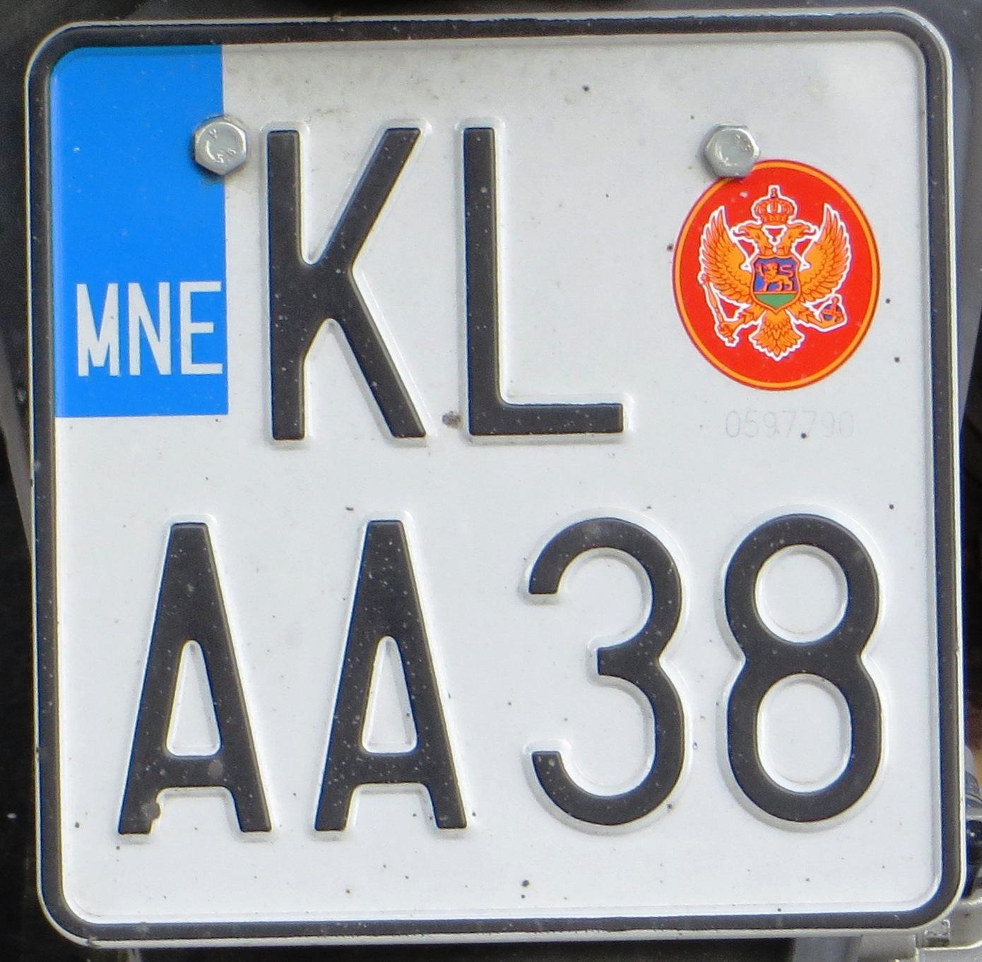 Targhe Dimmatricolazione Montenegrine Wikipedia