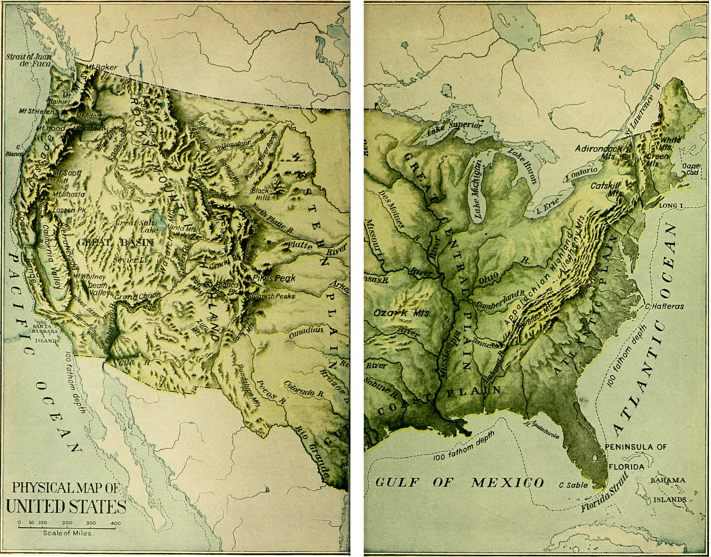FileNIE United States Physical Mapjpg Wikimedia Commons - Us map 1905