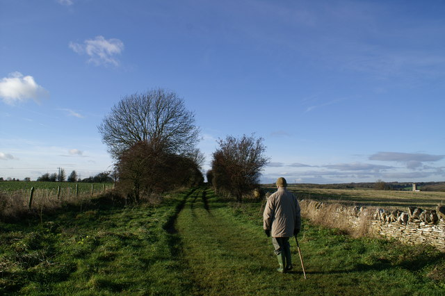 North Cotswold Diamond Way near Northleach - geograph.org.uk - 305218