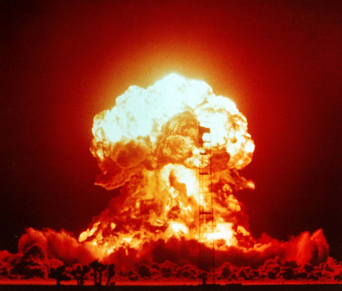 nuclear weapon simple english the encyclopedia nuclear explosion test in nevada in 1953