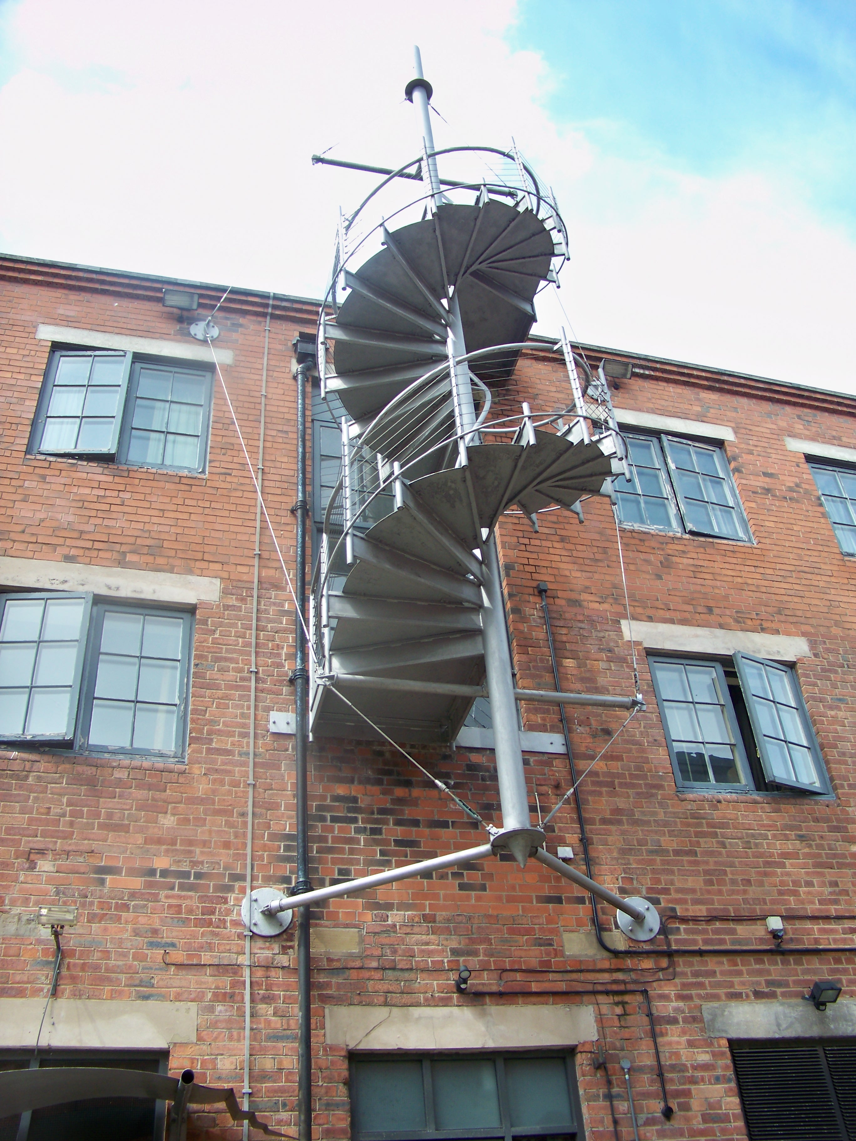 File:Outdoor Staircase On A Building On The Calls, Leeds (24th June 2010