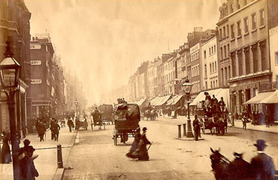 Thrupp & Maberley at the very left of this picture, Oxford Street 1875 Oxford Street, looking west from Duke Street. Site of Selfridges on the right.jpg