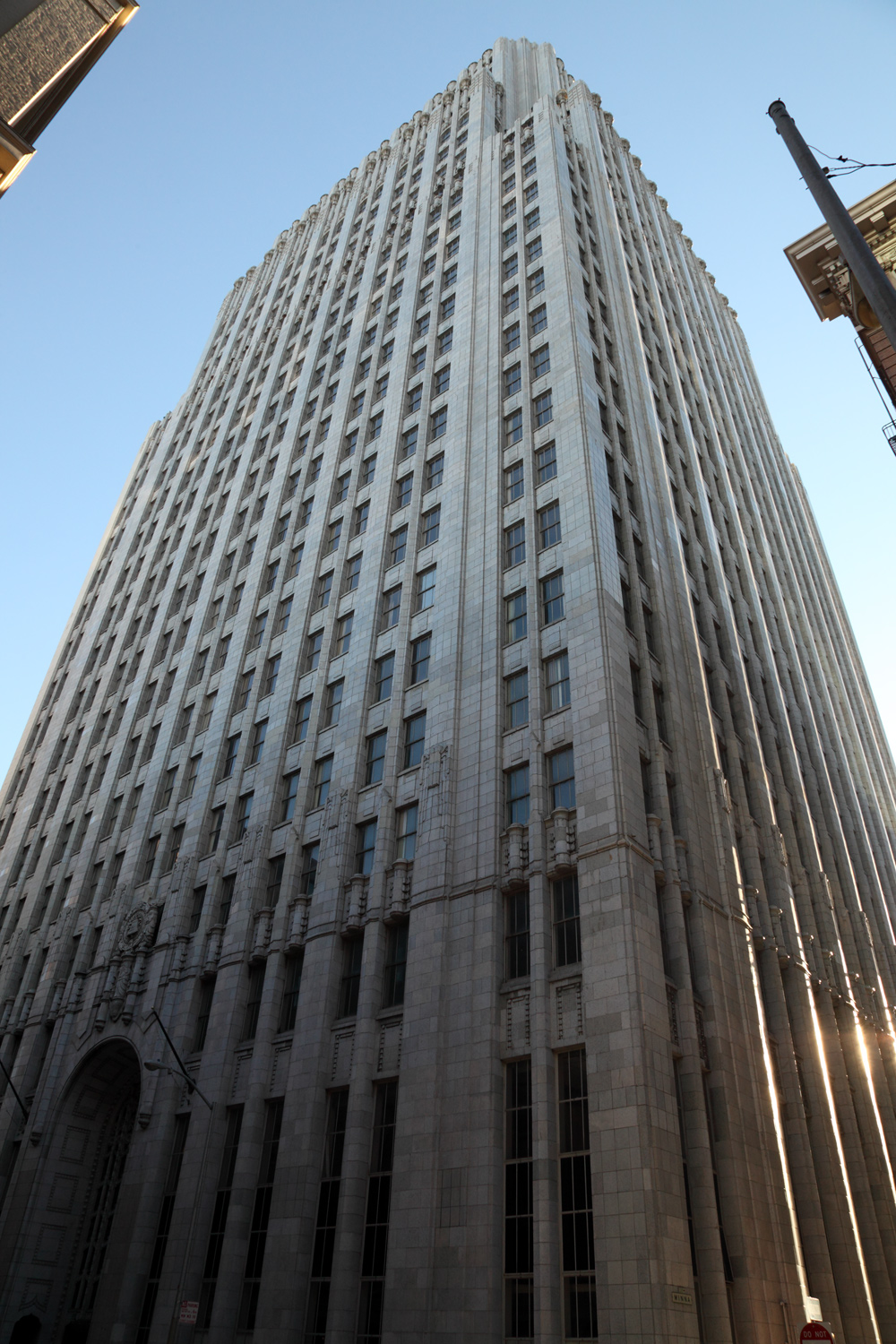 The 140 New Montgomery building in San Francisco, home of Yelp's headquarters