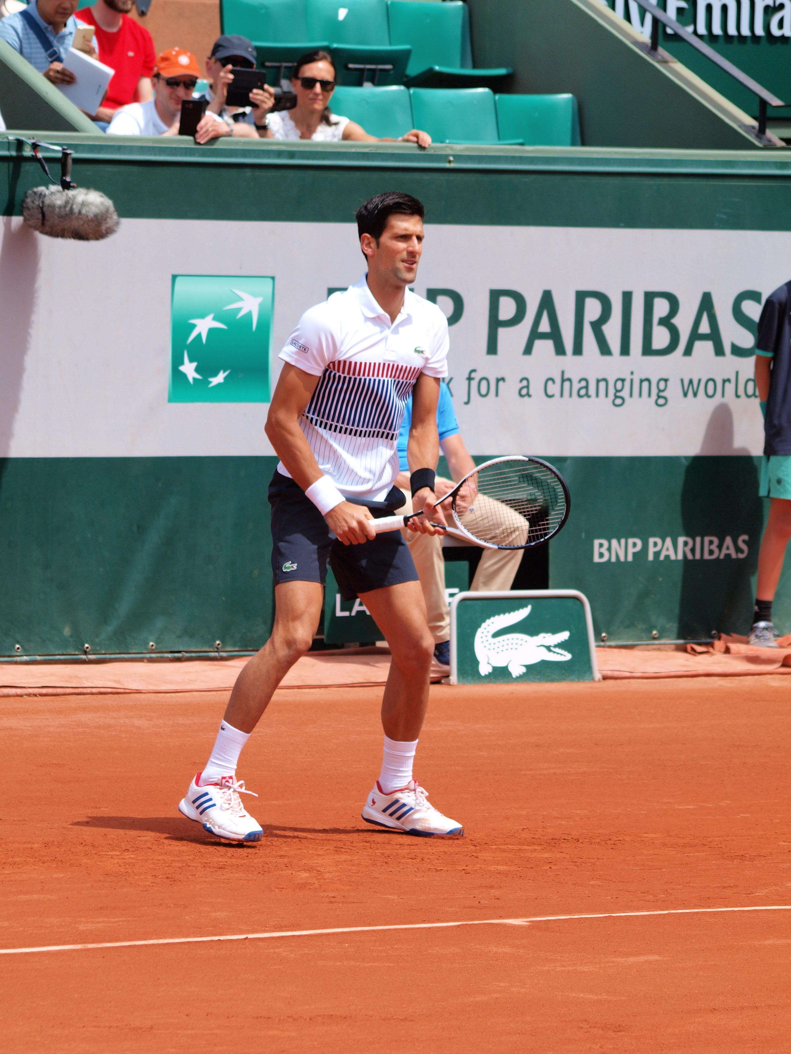 File Paris Fr 75 Open De Tennis 31 5 17 Roland Garros Novak Djokovic 06 Jpg Wikimedia Commons