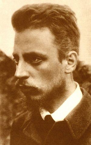 Fotografía de Rilke el 18 de septiembrede 1900