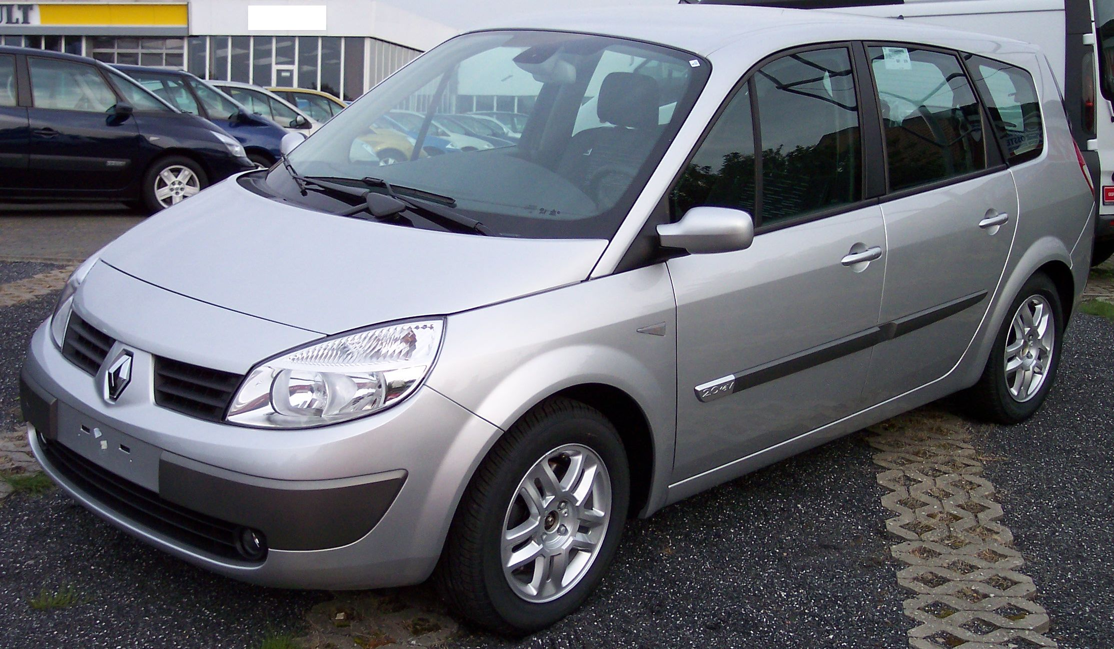 file renault scenic silver wikimedia commons. Black Bedroom Furniture Sets. Home Design Ideas