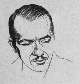 Heinlein as depicted in Amazing Stories in 1953