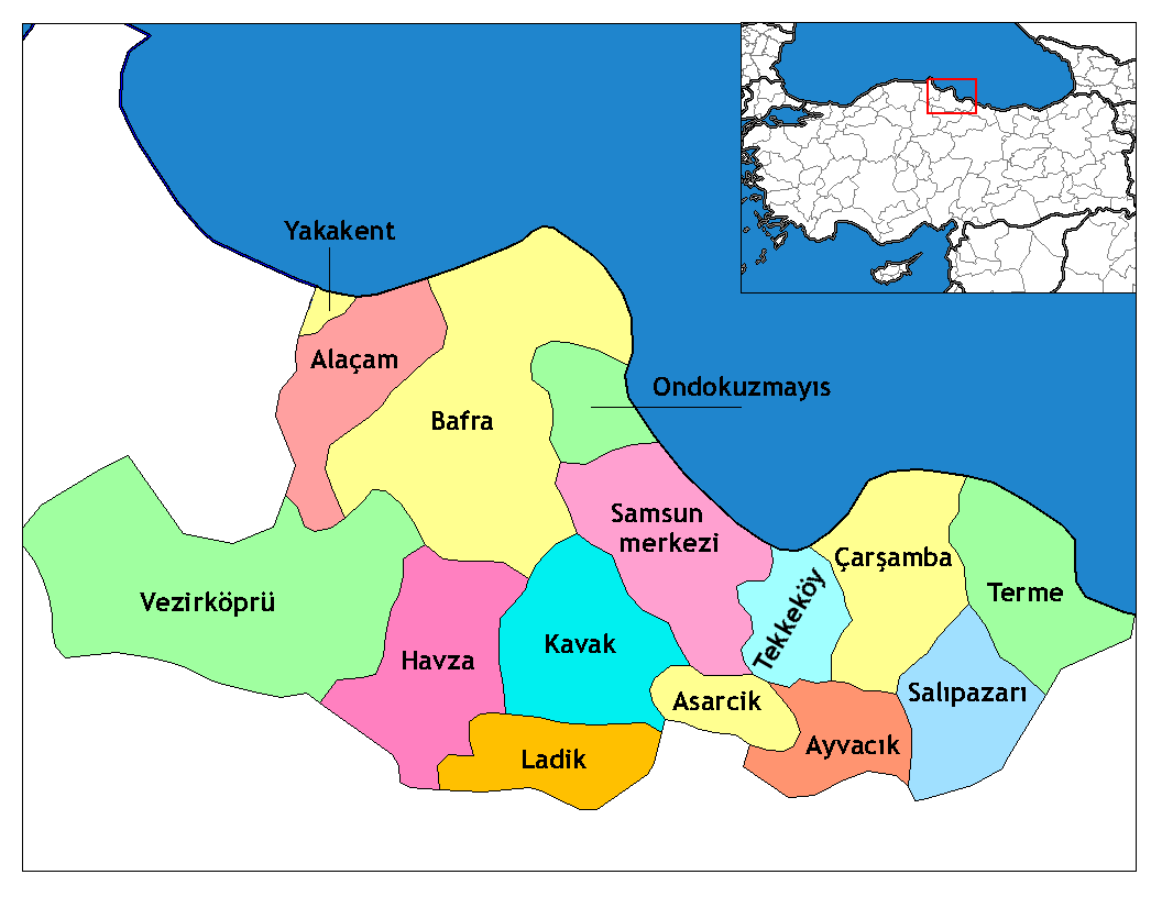 Samsun Turkey  city pictures gallery : Samsun districts Wikimedia Commons