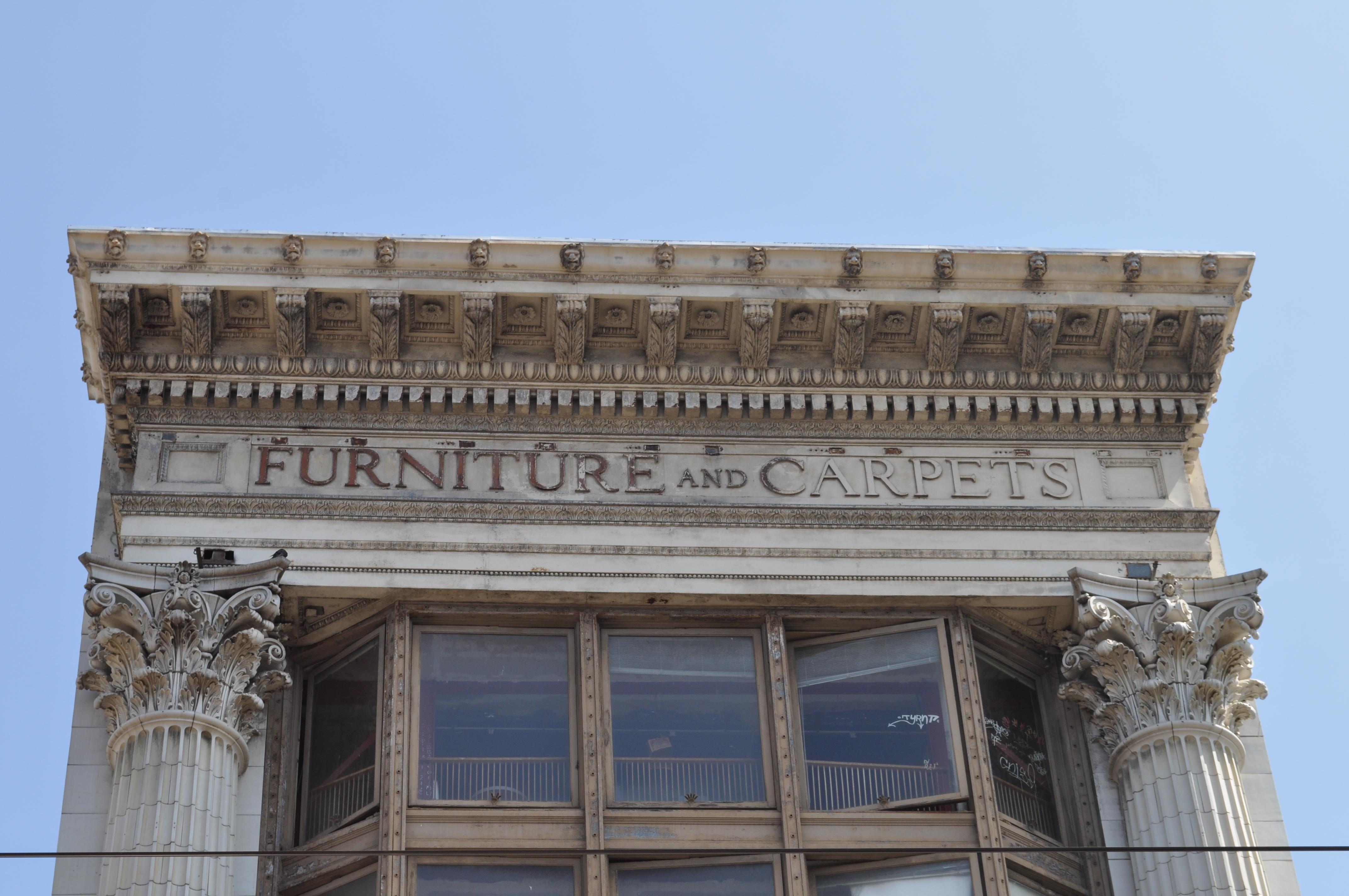 File San Francisco Furniture and Carpets cornice