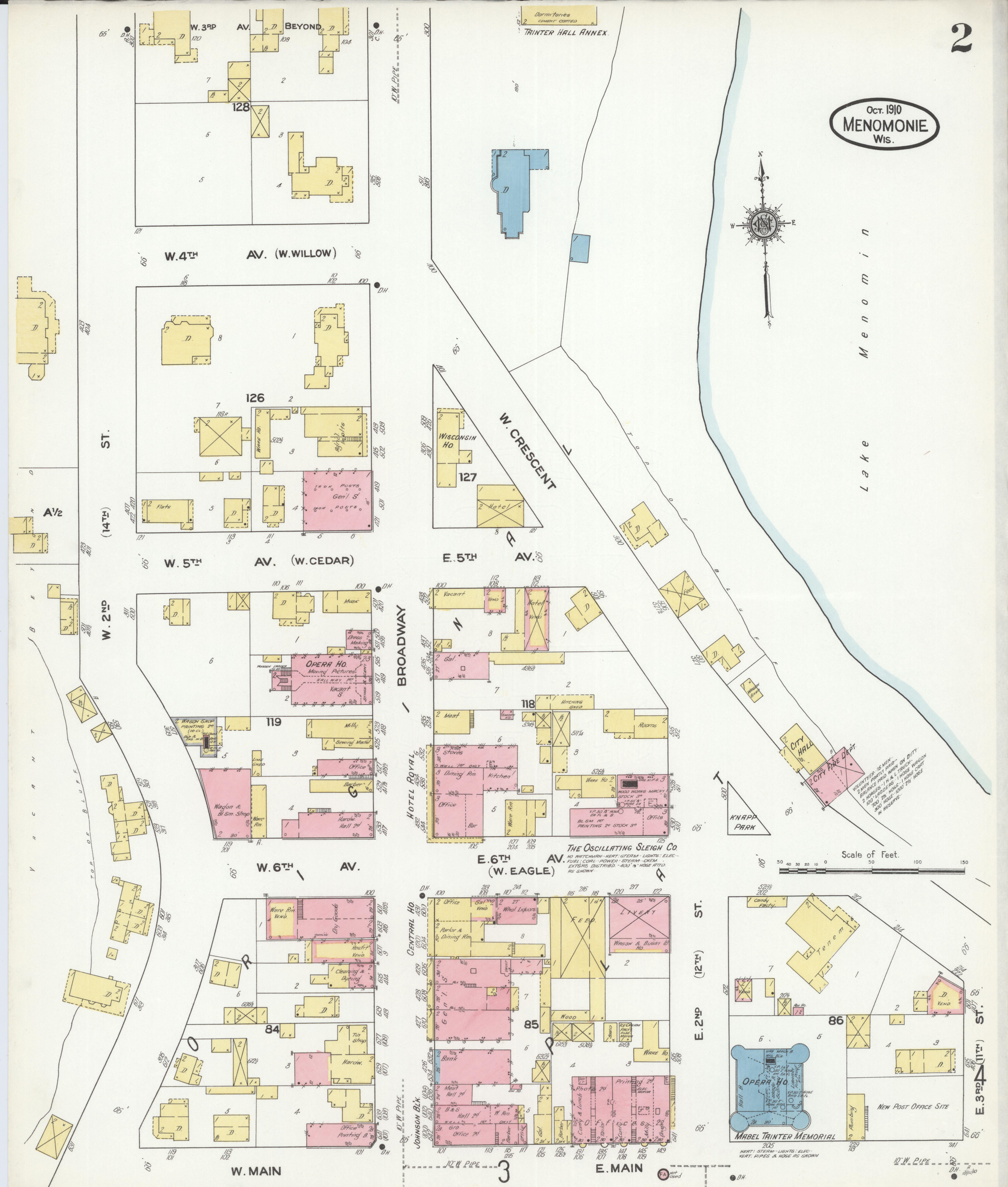 File:Sanborn Fire Insurance Map from Menomonie, Dunn County ... on