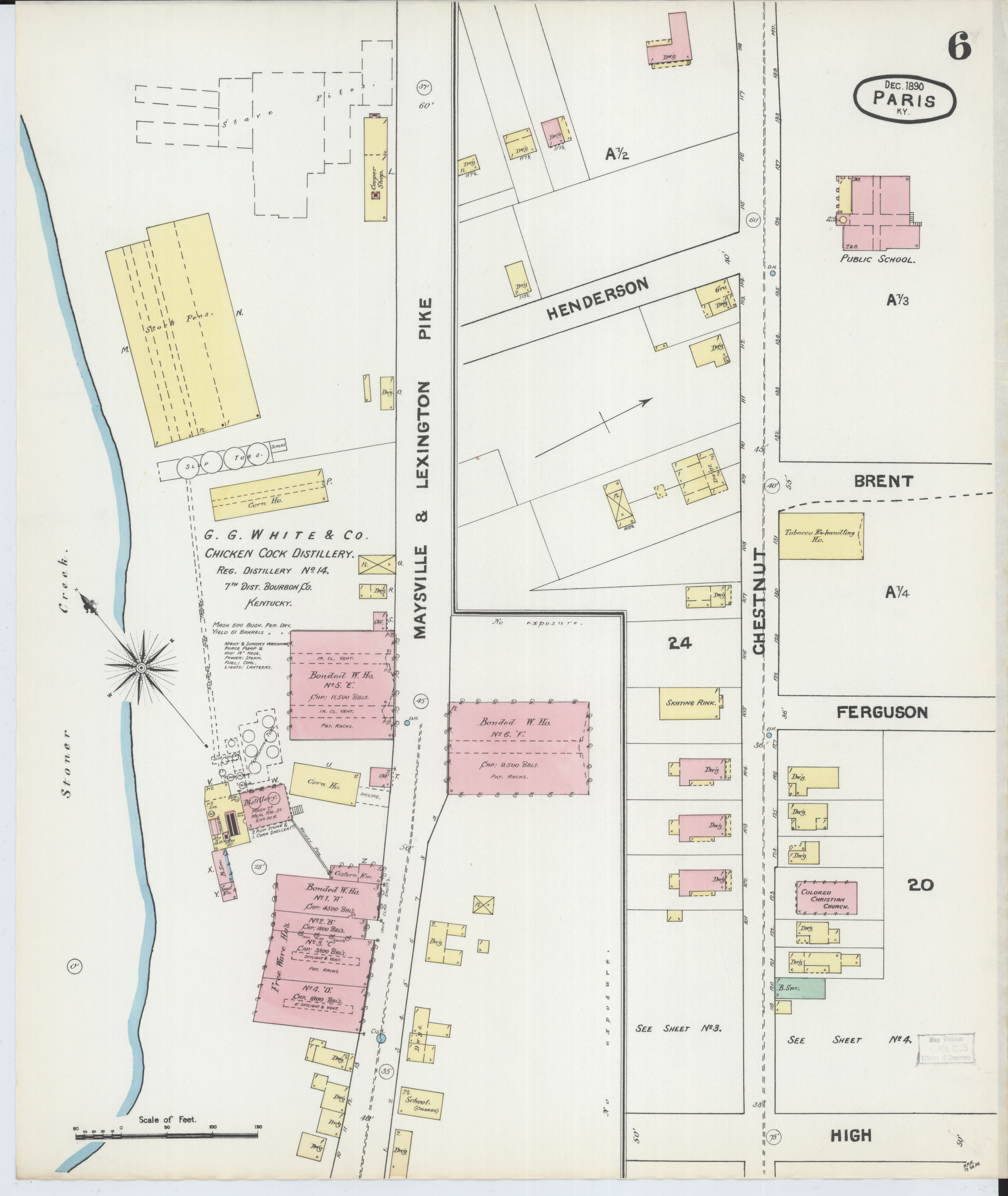 Picture of: File Sanborn Fire Insurance Map From Paris Bourbon County Kentucky Loc Sanborn03227 002 6 Jpg Wikimedia Commons