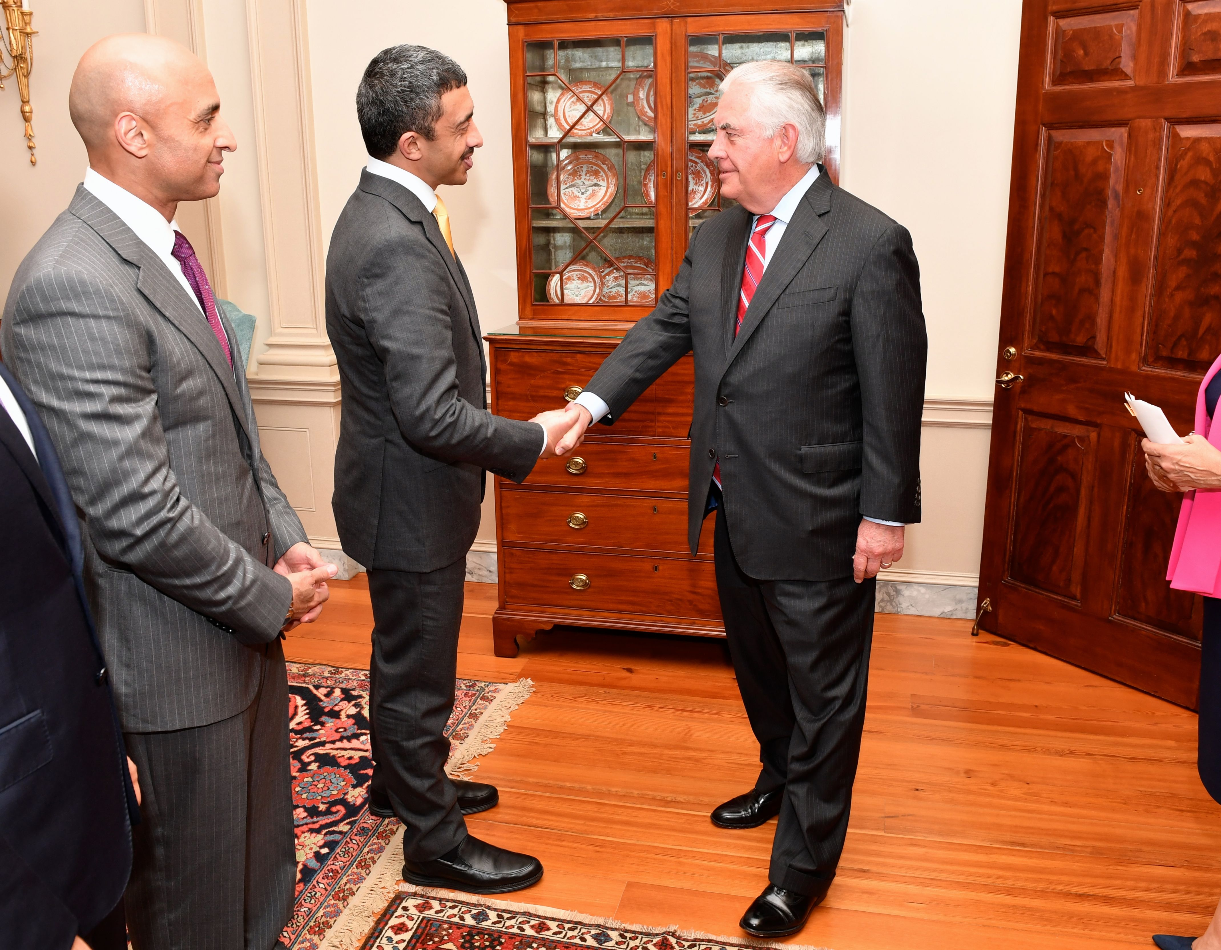 Filesecretary tillerson greets meets with uae foreign minister filesecretary tillerson greets meets with uae foreign minister abdullah bin zayed before their dinner m4hsunfo