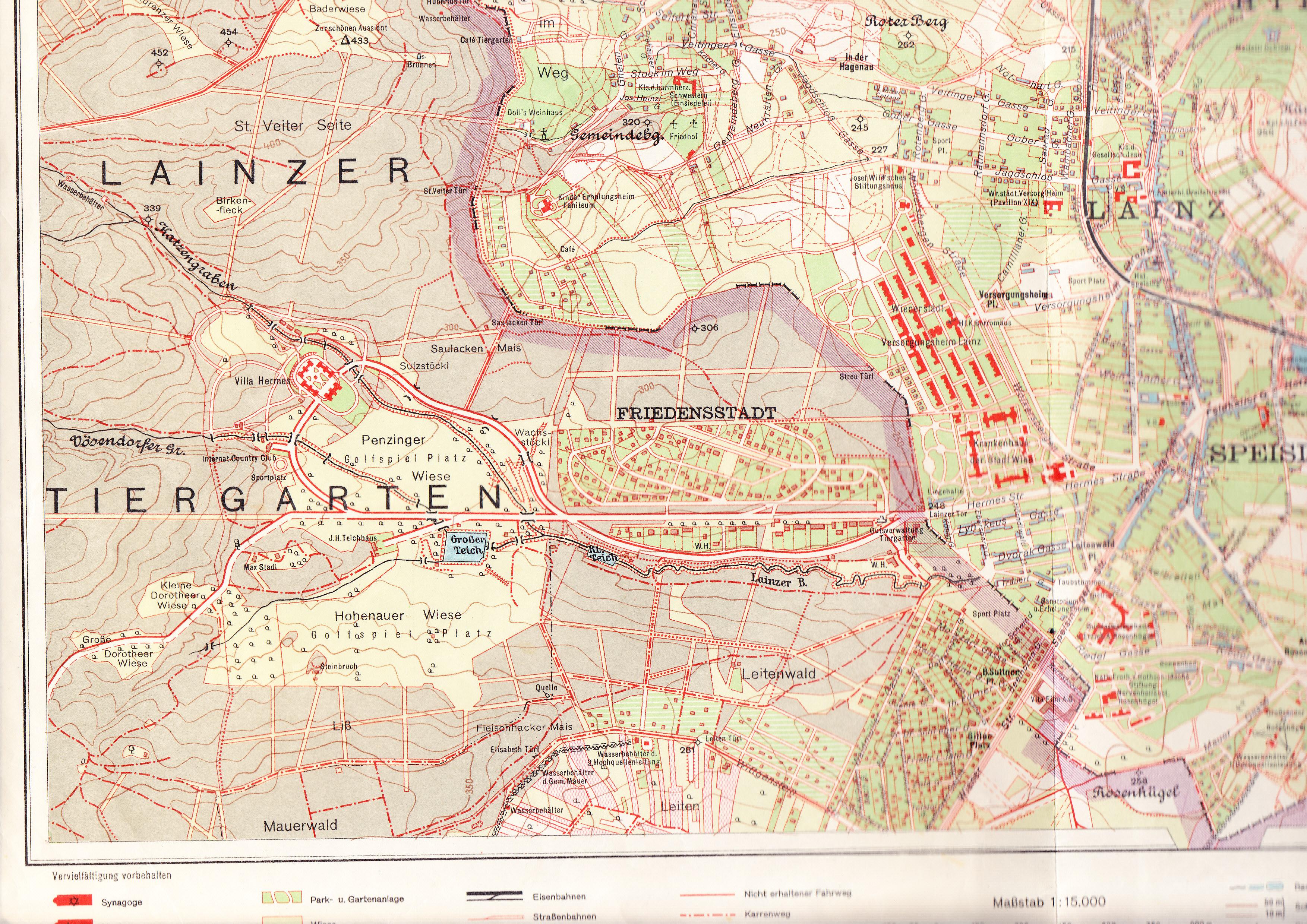 Lainzer Tiergarten Karte im Lainzer Tiergarten.jpg
