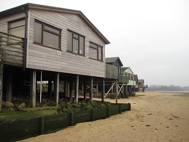 Stilt houses at Wrabness Point - geograph.org.uk - 646037